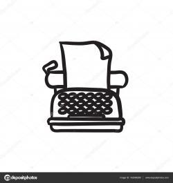 Drawn typewriter icon