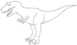 Drawn tyrannosaurus rex basic