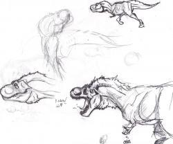 Drawn tyrannosaurus rex we have