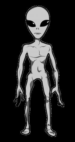 Sci Fi clipart grey alien
