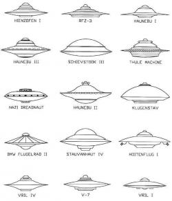 Drawn ufo flying saucer