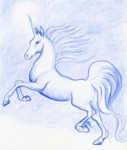 Drawn pice unicorn