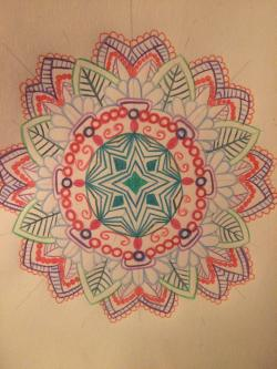 Drawn circle life buddhism