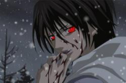 Drawn vampire angry
