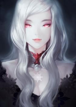 Drawn vampire dark female