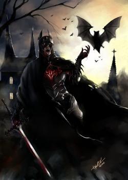 Drawn vampire darkness