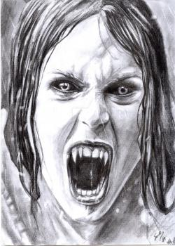Drawn vampire realistic
