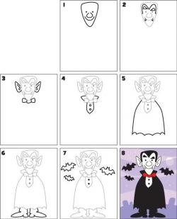 Drawn vampire step by step