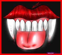 Drawn vampire vampire tooth