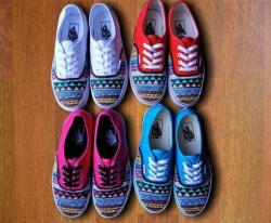 Drawn vans aztec pattern