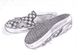 Drawn vans old shoe