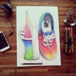 Drawn vans realistic