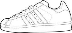 Adidas clipart cute shoe