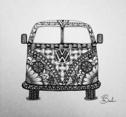 Drawn vans zentangle