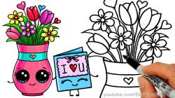 Drawn vase cartoon