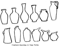 Drawn vase easy