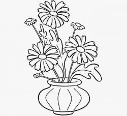 Drawn vase flower vase