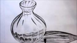 Drawn vase glass vase