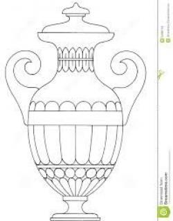 Drawn vase greek vase