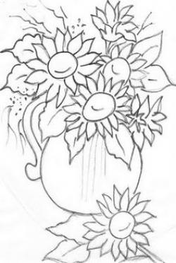 Vase-painting clipart black and white