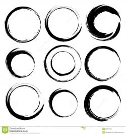 Circle clipart brush stroke