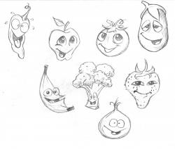 Drawn vegetables cartoon