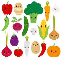 Drawn vegetable cute