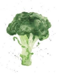Drawn vegetable watercolor