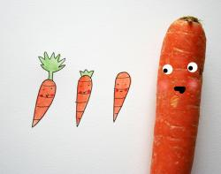 Drawn vegetable veggie
