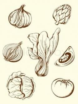 Drawn vegetables