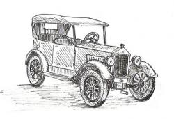 Drawn vehicle antique car
