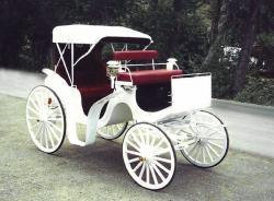 Drawn trolley vintage horse