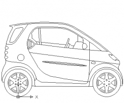 Drawn vehicle automobile