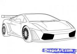 Drawn ferarri nice car