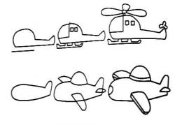 Drawn helicopter easy