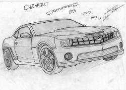 Drawn vehicle camaro ss