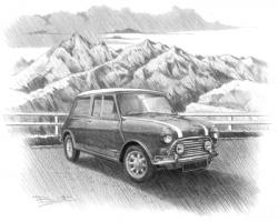 Drawn vehicle classic mini