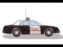 Drawn vehicle cop car