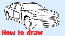 Drawn vehicle dodge charger