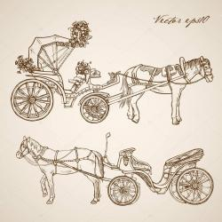 Drawn vehicle doodle