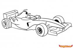 Drawn vehicle f1 car