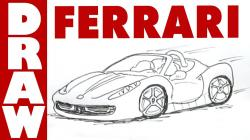 Drawn vehicle ferrari 458 spider