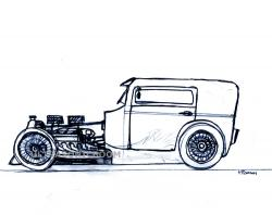 Drawn vehicle hot rod