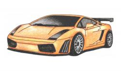Drawn vehicle lamborghini gallardo