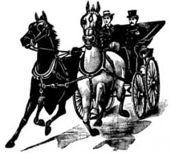 Horse-drawn Carriage clipart victorian