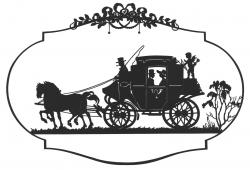 Horse-drawn Carriage clipart old fashioned