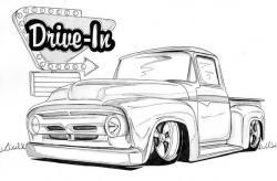Drawn vehicle lowride car