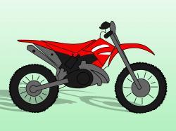 Drawn pushbike dirt bike