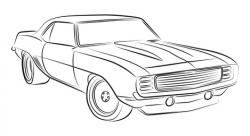 Drawn vehicle muscle car