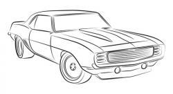 Drawn vehicle muscle car